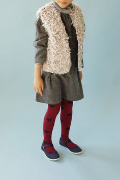 girls' faux fur |bekia| vest