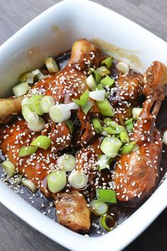 Teriyaki drumsticks (slowcooker of uit de pan) - OhMyFoodness