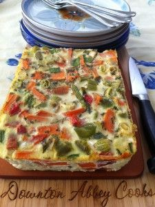 Vegetable Terrine: a colorful and heart healthy way to enjoy your vegetables.