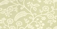 Denbury (PW78029/5) - Baker Lifestyle Wallpapers - A simple stylised crewel embroidery floral trail design with a hand painted effect. Shown here in off white and celery green. Other colourways are available. Please request a sample for a true colour match.