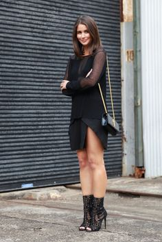 Street Style at Sydney Fashion Week: Fight all-black boredom with sheer details