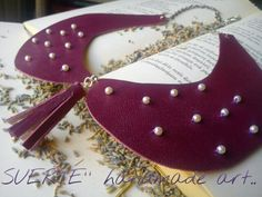 collar with leather