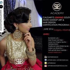 #Repost @sapphirestudioltd with @repostapp.  Don't miss your chance to Register into Calgary's leading South Asian Makeup Art and Hair Design Certification Program for ||JUNE 2016||  Last day to register May 20 2016. Each student will receive a full hair and makeup industry kit valued over $2000.00 which will include professional grade products.  Email us to register today at sapphirestudioinquiry@gmail.com  Sapphire Studio Ltd. key focus in building the Academy was based on their vision of…