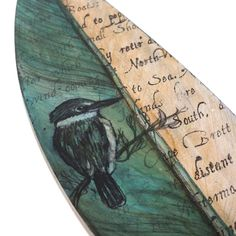 Cook's Kingfisher by Justine Hawksworth (close up) Kingfisher, Map Art, Surfboard, Cooking, Kitchen, Common Kingfisher, Surfboards, Surfboard Table, Brewing