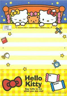 kawaii Hello Kitty face Memo Pad from Japan