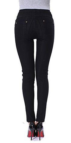66425ad6f9d Sipaya Women s High Waist Jeans Leggings Denim Printed Stretchy Jeggings  S-2XL