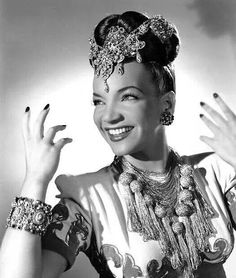 Carmen Miranda wearing Joseff of Hollywood jewels
