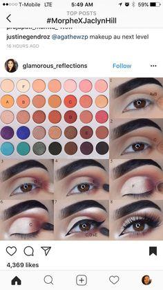 Jaclyn Hill Palette von Morphe - Eye Make up Makeup Eye Looks, Eye Makeup Steps, Love Makeup, Makeup Goals, Makeup Tips, Beauty Makeup, Makeup Tutorials, Makeup Ideas, Top Beauty