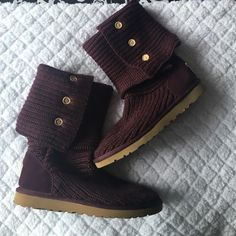 Brand New Dark Purple Ugg Boots Size 8 Dark Purple Ugg boots (button type) In perfect condition. Size 8. No defects or stains. UGG Shoes Winter & Rain Boots
