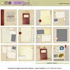 digital recipe book template google search