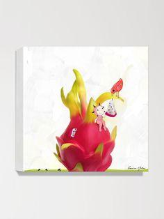 Dragon Fruit Canvas Print by Magic World of Uti Artwork