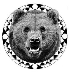 Bear tattoo design.