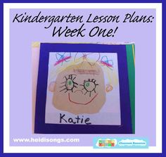 Here are my lesson plans were for the first week of Kindergarten. Each week, my lesson plans will be aligned with the free Pacing Guide that I posted a few years ago and have been updating yearly. Kindergarten First Week, Kindergarten Lesson Plans, Homeschool Kindergarten, Preschool, Kindergarten Websites, Kindergarten Routines, Kindergarten Portfolio, Homeschooling, 1st Day Of School