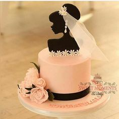 Best 12 Colourful flower cake with a female silhouette – Page - Tort - Torten Unique Cakes, Creative Cakes, Gorgeous Cakes, Pretty Cakes, Amazing Cakes, Fondant Cakes, Cupcake Cakes, Silhouette Cake, Bride Silhouette