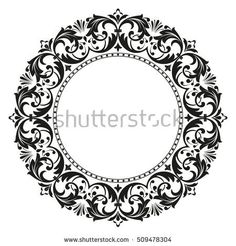 Decorative line art frames for design template. Elegant element for design in Eastern style, place for text. Lace vector illustration for invitations and greeting cards Stencil Art, Stencils, Stencil Designs, Floral Embroidery, Embroidery Designs, Chicano Lettering, Vine Tattoos, Decorative Lines, Anna Griffin Cards