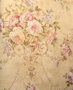 by Astek featured in Vintage Style, Traditional Wallpaper Iphone 6 Wallpaper, Rose Wallpaper, Print Wallpaper, Classic Wallpaper, Wallpaper Patterns, Decoupage Vintage, Vintage Paper, Victorian Wallpaper, Paisley