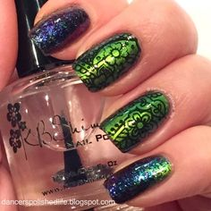 Dancer's Polished Life: ILNP Mutagen and Flakies Stamped Mani