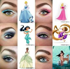 I dont know who's idea this was, but its great!  - Disney princess inspired eye makeup