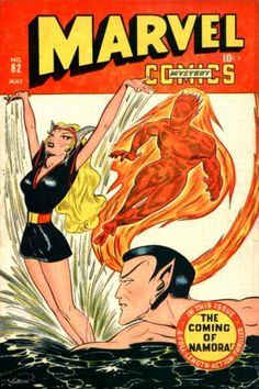 """The original"" Human Torch,Namor and Namorita °° COMIC_marvel_comics_83 #comic #cover #art"