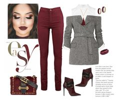 """Easy Chic......"" by shainaelaine on Polyvore featuring Monse, Hermès, Zimmermann, Gorjana, Balmain and Prada"