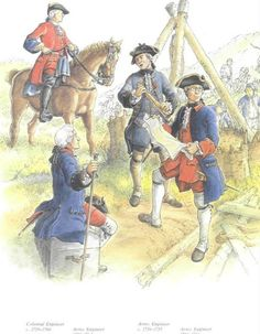 French engineers of the Seven Years War.