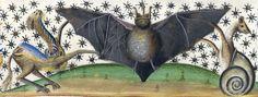 crowned bat Jean Mansel, La Fleur des histoires ou les hystores rommaines abregies…, France 1454. Paris, Bibliothèque de l'Arsenal, Ms 5088 ...