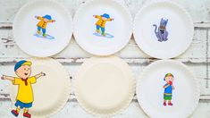 Decorative Plates, Tableware, Caillou, Usa, Home Decor, Game Ideas, Diys, Parents, Amazing