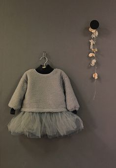 A lovely party outfit, with mesh skirt and matching knitted jumper.