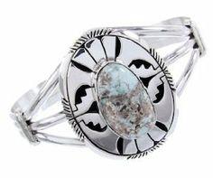 Eugene Belone Navajo Dry Creek Turquoise Sterling Silver Cuff Bracelet BW65133 SilverTribe. $249.99