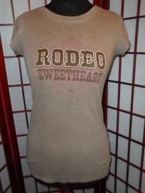 Fang ladies small / juniors medium - western RODEO SWEETHEART tee shirt - ship incl.