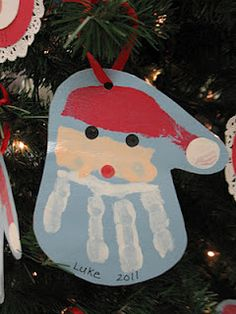 Christmas handprint - your adult children will still look for their childhood handprints!