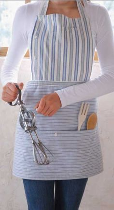 Try This: Button-Down Apron Made from Recycled Shirts