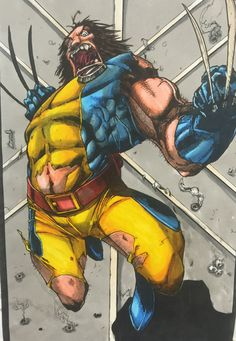 Savage Wolverine marker, Sean Manning ink/color Joe Mad Pencil Ink Color, Wolverine, Marker, Savage, Weapon, Logan, Mad, My Arts, Pencil