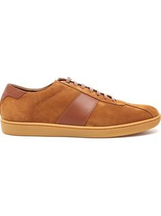3755a2220391 SAINT LAURENT Suede And Leather Trainers Mens Designer Shoes
