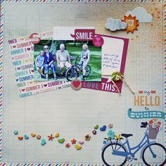 Say Hello to Summer. Layout by scrappininAK