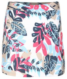 "Check out what #lorisgolfshoppe has for your days on and off the golf course: REFLECTION (Multi) Sport Haley Ladies Tribal Leaf 18"" Printed Woven Golf Skort"
