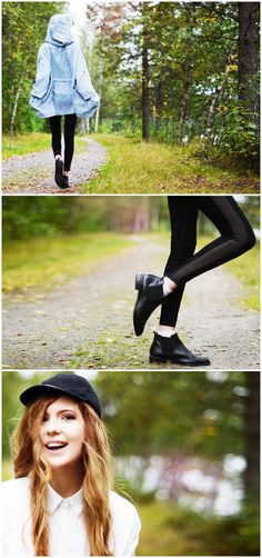See through leggings with chelsea boots