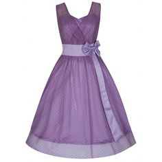 'Ella' Lavender Polka Dot Vintage Inspired 50's Prom/Occasion Dress ($39) ❤ liked on Polyvore featuring dresses, purple, purple cocktail dress, lavender cocktail dress, sweetheart neckline prom dress, purple dress and purple skater skirt