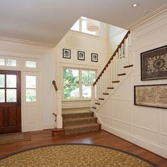 stairway behind the front door...nice