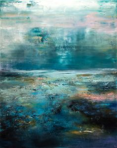 Buy Prints of The Blues, a Oil on Canvas by Chris Veeneman from France. It portrays: Nature, relevant to: black, sky, blues, storm, abstract, landscape, nature OIl on linen canvas