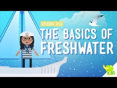 The Basics of Freshwater: Crash Course Kids 14.1 by thecrashcourse: We have a lot of water on Earth, but we also can't actually drink much of it… or use it for farming. That's because most of the water on Earth is saltwater. We humans, like a lot of living things, need freshwater to survive. In this episode of Crash Course Kids, Sabrina talks about the difference between freshwater and saltwater and why freshwater is so important. Support T