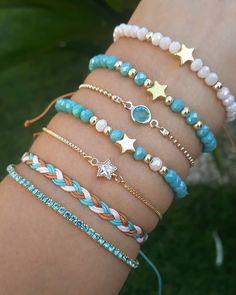 Diy Friendship Bracelets Patterns, Diy Bracelets Easy, Bracelet Crafts, Cute Bracelets, Bracelet Patterns, Handmade Bracelets, Jewelry Crafts, Handmade Jewelry, Beaded Bracelets