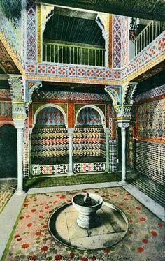 Granada en blanco y negro: Sala de las Camas del Baño Real de Comares (Alhambra)