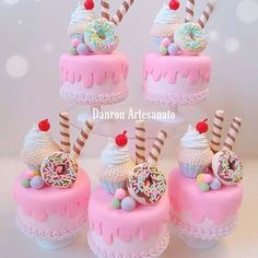 Candy Birthday Cakes, Barbie Birthday Party, Cake Cookies, Cupcakes, Doctor Cake, Rainbow Party Decorations, Small Cake, Novelty Cakes, Candy Party