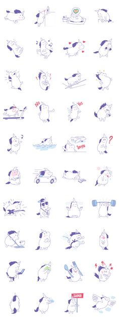Dancing, traveling, flying, sporting, parting and do whatever you want with a unicorn Unny.