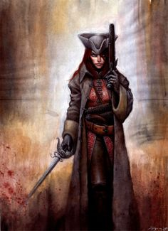 Pirate woman (in reasonable armour)