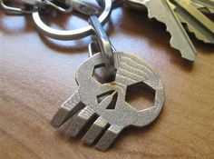 Skull'' Keychain / Pendant Multitool by Innovo on Shapeways