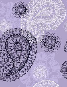 Illustration about Delicate Henna Mehndi Paisley Seamless Repeat Pattern Vector Illustration Background. Illustration of flower, foliage, henna - 12142588 Henna Patterns, Zentangle Patterns, Print Patterns, Zentangles, Paisley Lace Tattoo, Mandala Tattoo, Peacock Tattoo, Henna Doodle, Henna Art