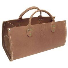 Leather Tote Bag, Tan
