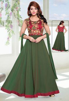 b0091c5501c Readymade Light Green Georgette Partywear Anarkali Suit  partywear  stylish   designer  partywearsalwarkameez  partywearsalwarsuit  onlinesalwarkameez  ...
